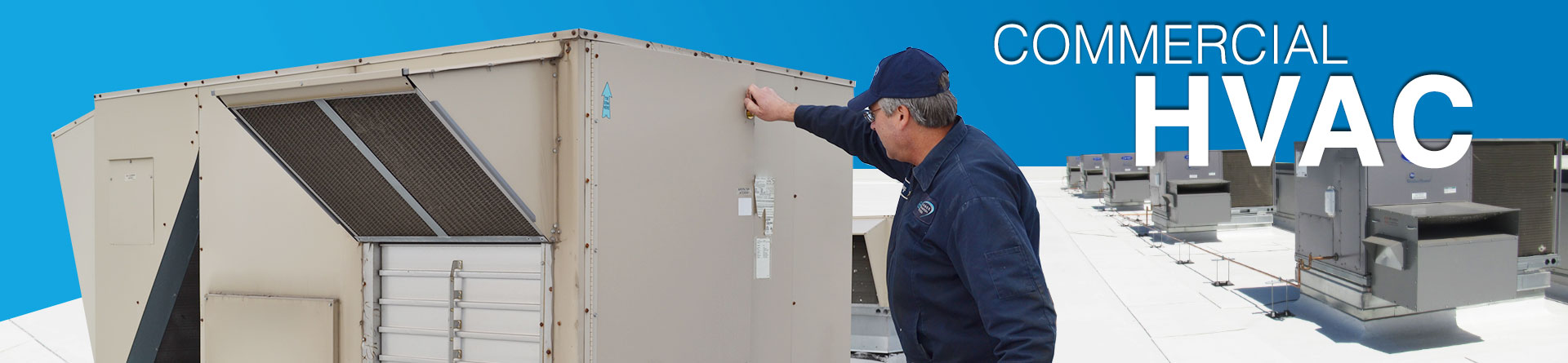 Alliance Mechanical Service's technician provide repair, service, and installation of roof-top commercial HVAC systems.